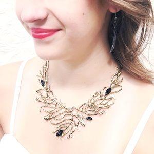 Jewelry - Seaweed Bib Necklace Statement Mermaid Gold